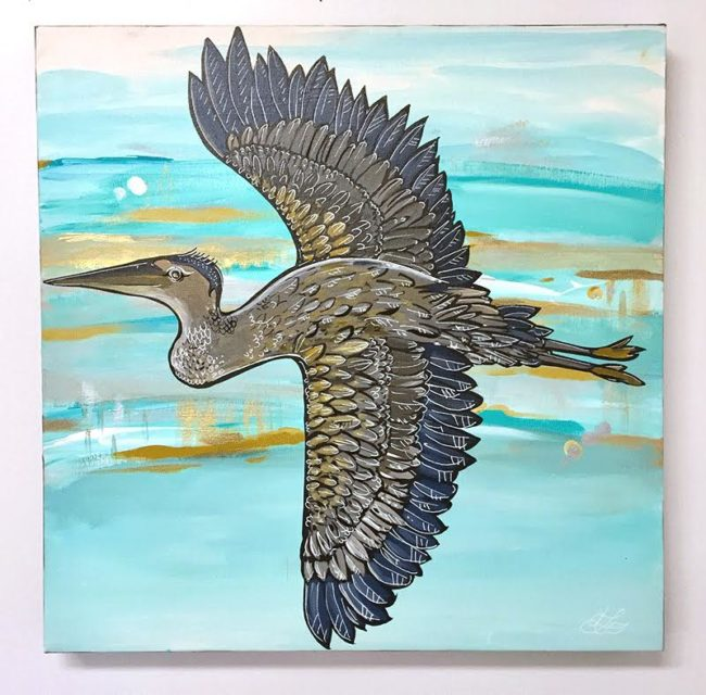 Take Flight. 20x20 by April Lacheur available. $495