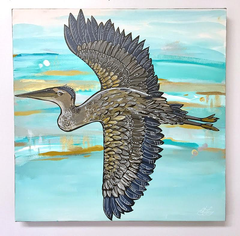Take Flight. 20x20 by April Lacheur available. $585.00