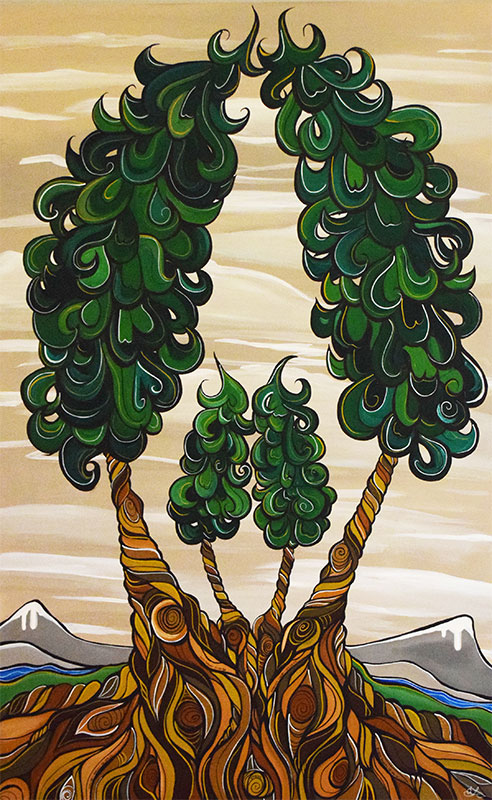 'Sharpe Family Roots' 24x36. Acrylic on canvas. SOLD