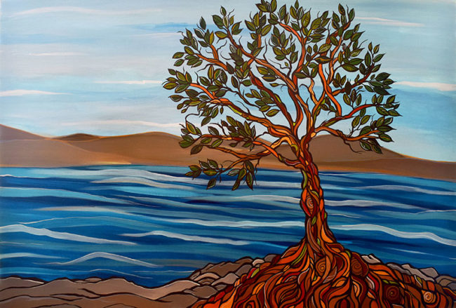 'Arbutus View' 24x36. Acrylic on canvas. SOLD