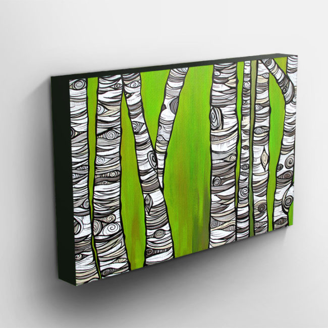 'Among the Birch' canvas print