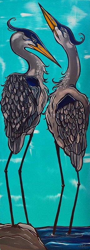 'Great Blues' 12x36 Acrylic on canvas. $495.