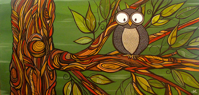 'Life's a Hoot' 24x48. SOLD