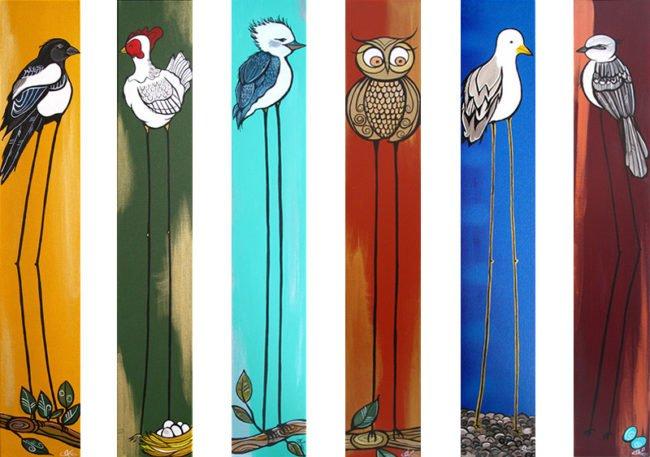 'Lofty Birds' 6x36 SOLD