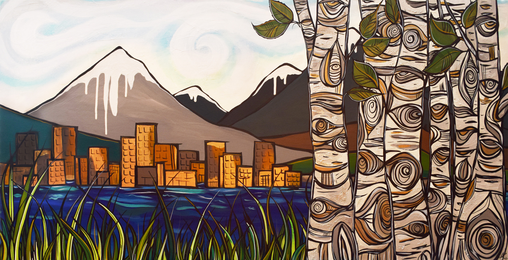 'Away from it all' 24x48 acrylic on Canvas. $1400 by April Lacheur
