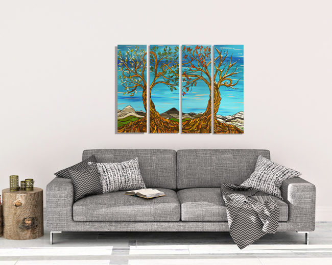 'Life Season' by April Lacheur. Available in 4 panel Giclee canvas print.