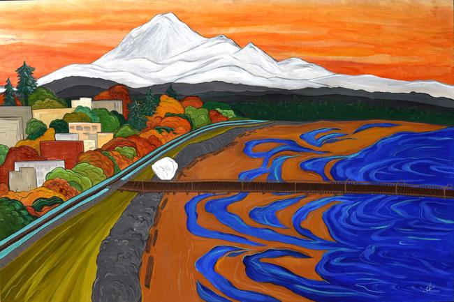 Baker Views 40x60 acrylic on wood April Lacheur. Commission. Sold