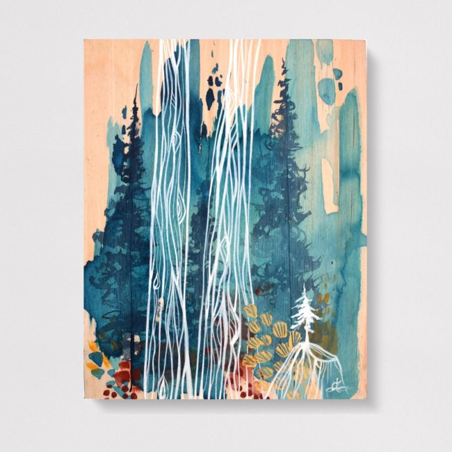 'Transparent Forest' 1 8x10 acrylic on wood by April Lacheur. SOLD